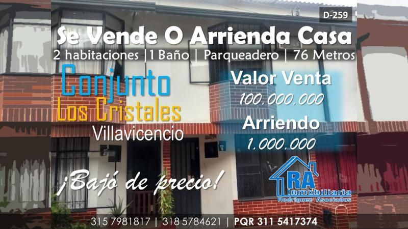 Foto Casa en Arriendo en Centro, Villavicencio, Meta - $ 1.000.000 - doAIRD259 - BienesOnLine